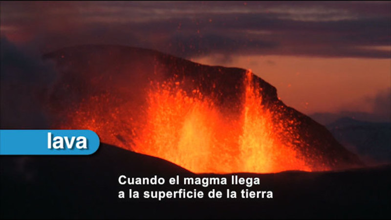 Still image from Science Video Vocab: Volcanism (Spanish)