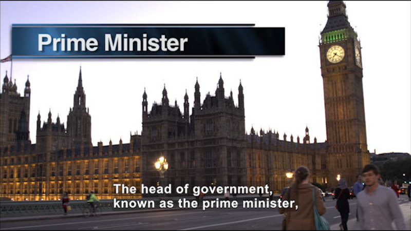 Still image from: Social Studies Video Vocab: Parliamentary Government