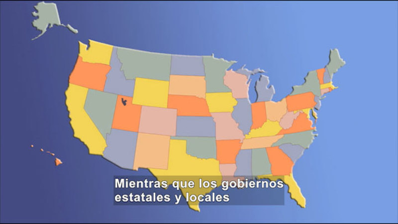 Still image from Social Studies Video Vocab: Federal Government (Spanish)