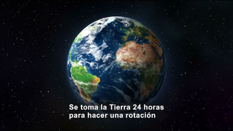 Still image from Science Video Vocab: Rotation (Spanish)
