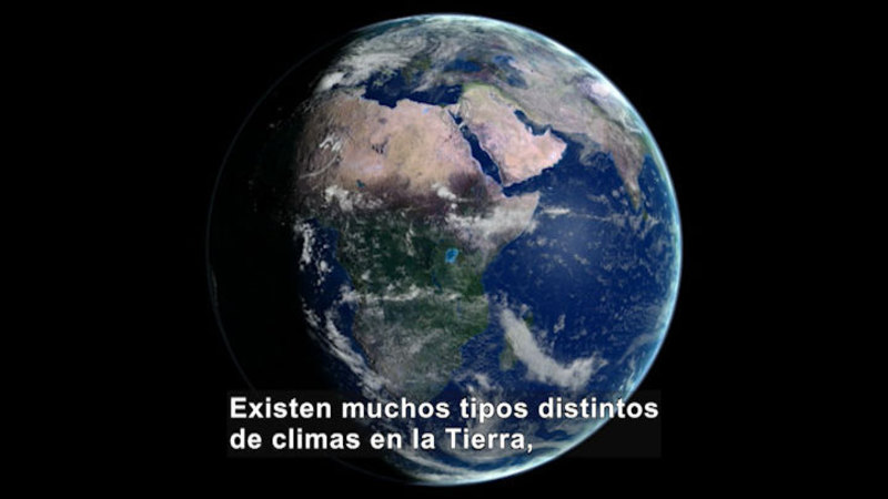 Still image from Science Video Vocab: Climate (Spanish)