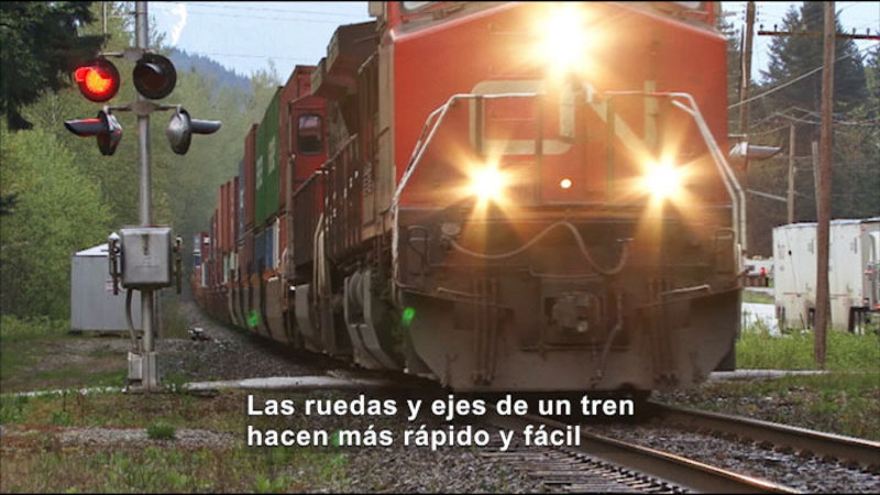 Still image from Science Video Vocab: Wheel And Axle (Spanish)