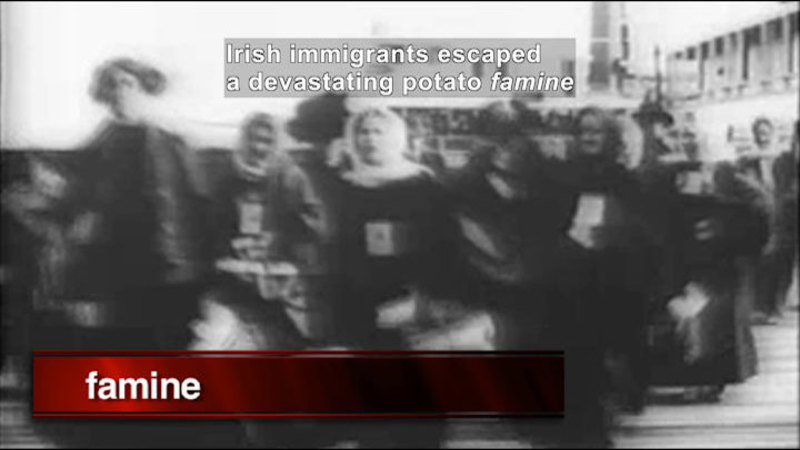 Still image from: Social Studies Video Vocab: Immigrant