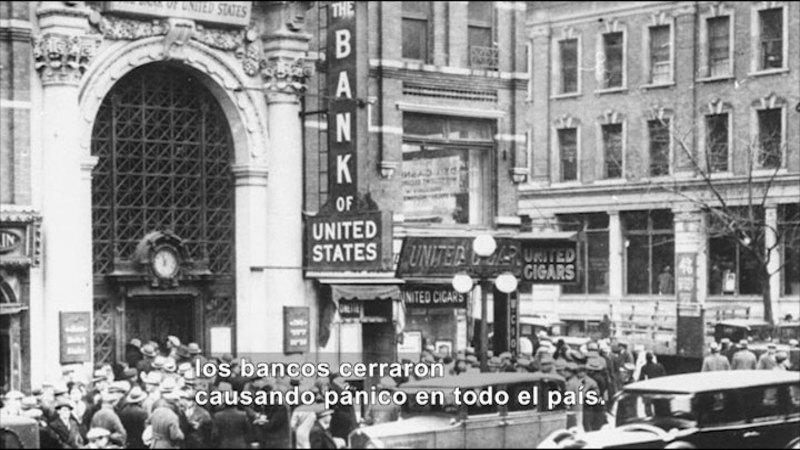 Still image from Social Studies Video Vocab: Great Depression (Spanish)
