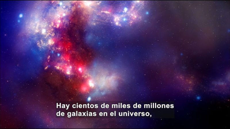 Still image from Science Video Vocab: Galaxy (Spanish)