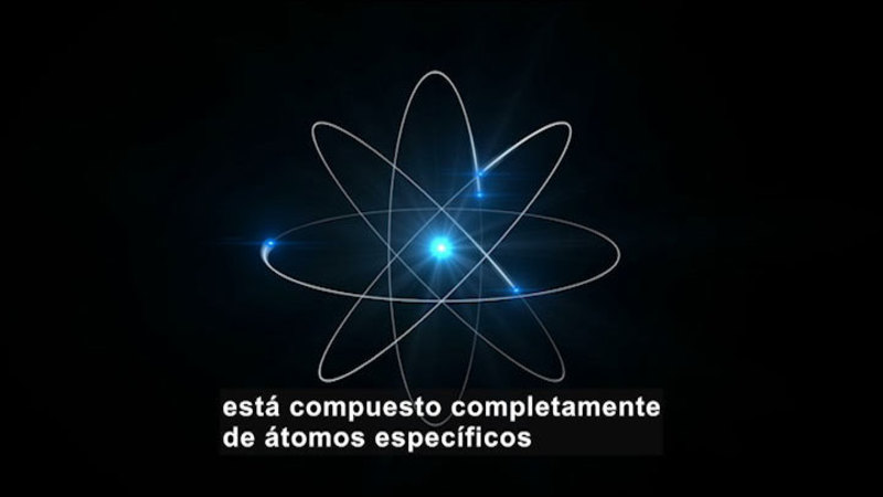 Still image from Science Video Vocab: Element (Spanish)