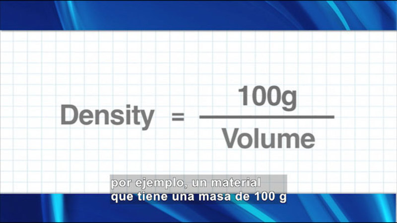 Still image from Science Video Vocab: Density (Spanish)