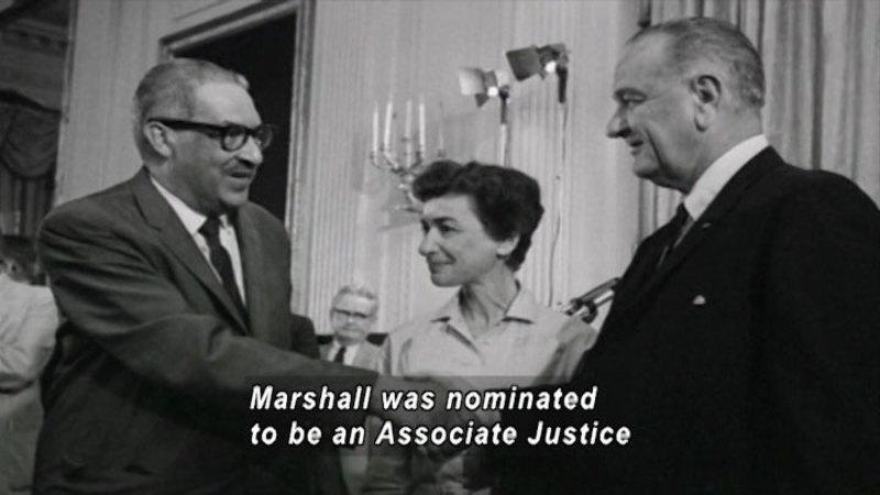 Still image from: Famous Activist: Thurgood Marshall