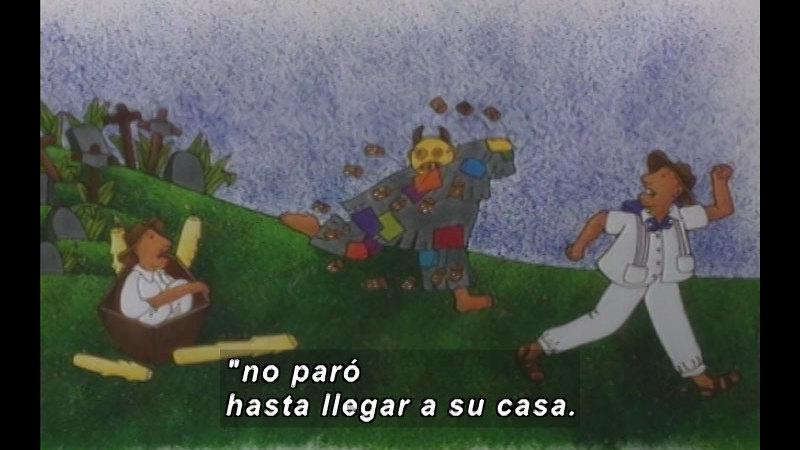 Still image from Kool Books: Three Frightened Lovers (Spanish)