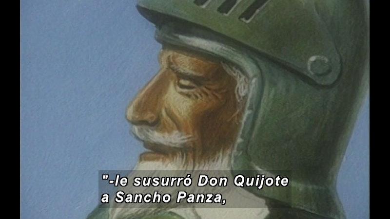 Still image from Kool Books: The Outrageous Battle Of Don Quixote (Spanish)