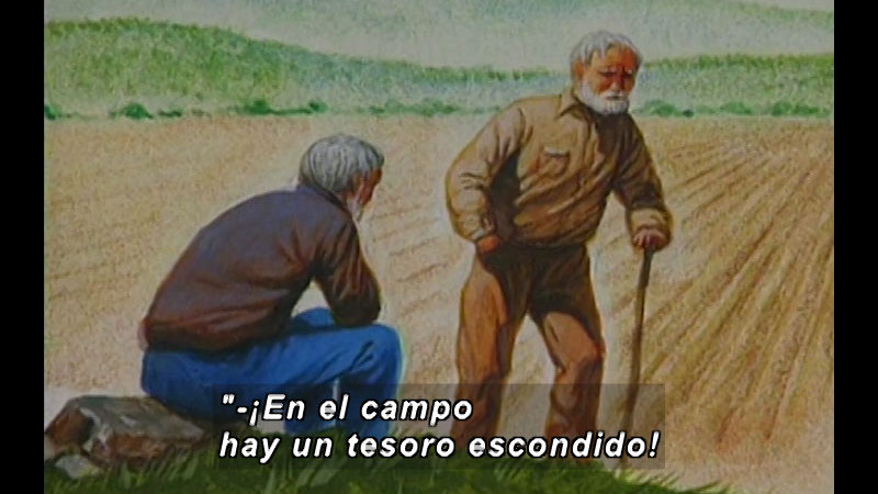 Still image from Kool Books: The Farmer And His Sons (Spanish)