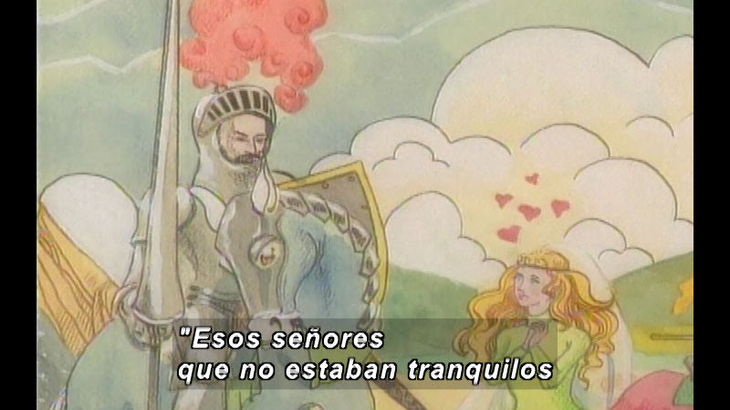 Still image from Kool Books: The World Of Don Quixote (Spanish)