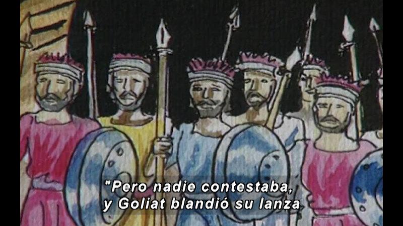 Still image from: Kool Books: David And Goliath (Spanish)