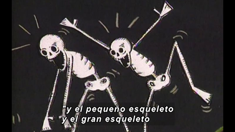Still image from Kool Books: What Funny Bones (Spanish)