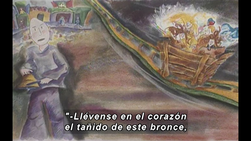 Still image from Kool Books: The Trip Of Oriflama (Spanish)