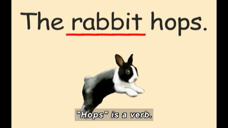 Still image from: K-3 Nouns: Match Verb To Noun