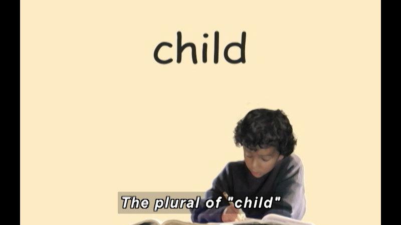 Still image from: K-3 Nouns: Irregular Plural Nouns