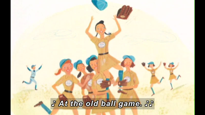 Still image from: Players In Pigtails