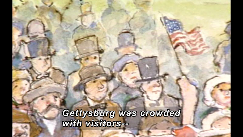 Still image from: Just A Few Words, Mr. Lincoln: The Story Of The Gettysburg Address