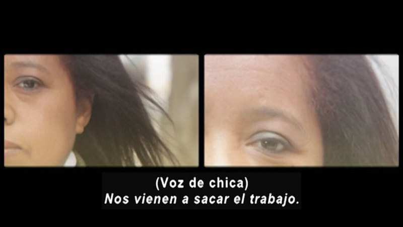 Still image from: Don't Let Prejudices Talk For You: Migrants (Spanish)