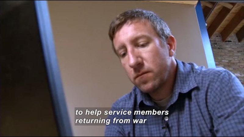 Still image from: Science Nation: VetsPrevail Helps Veterans Transition From War