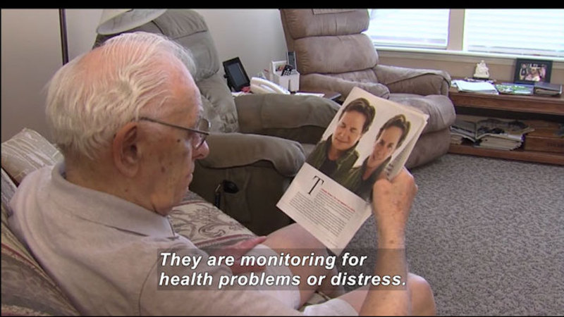 Still image from: Science Nation: Home Sensors Enable Seniors to Live Independently