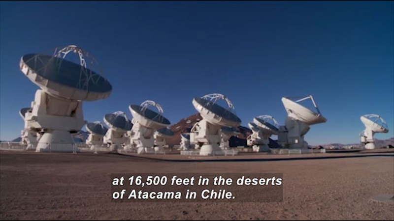 Still image from Science Nation: ALMA-Seeing the Universe in a Whole New Light