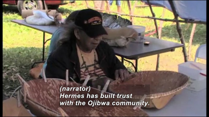 Still image from: Science Nation: New Home Movies Resurrect Endangered American Indian Language