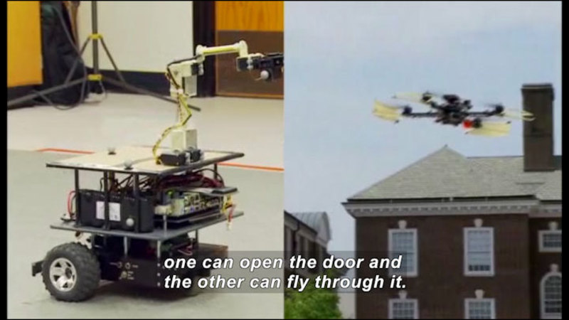 Still image from: Science Nation: Cooperative Robots That Learn = Less Work For Human Handlers