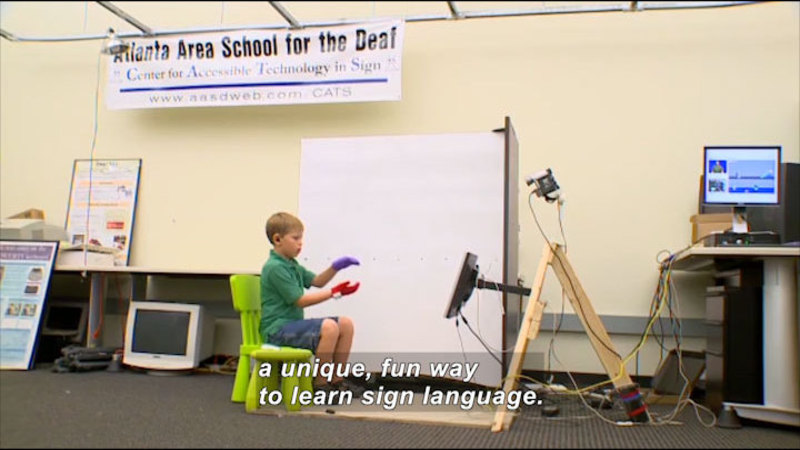 Still image from: Science Nation: Signing Made Easy
