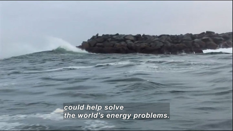 Still image from Science Nation: Wave Energy