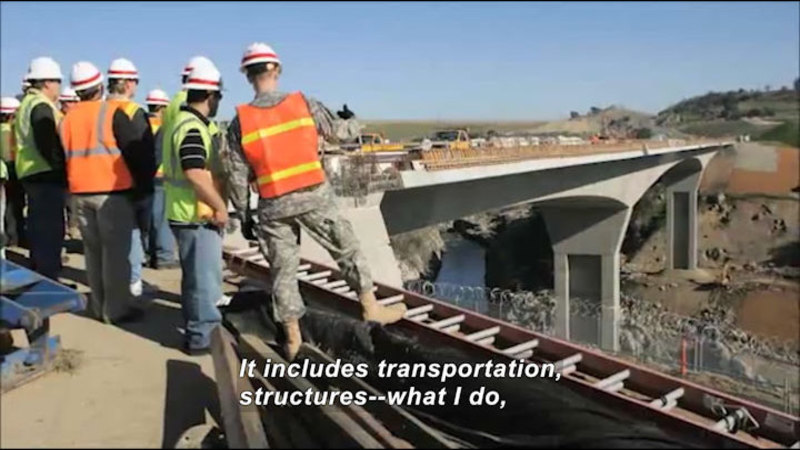 Still image from Profiles Of Scientists And Engineers: Civil Engineer