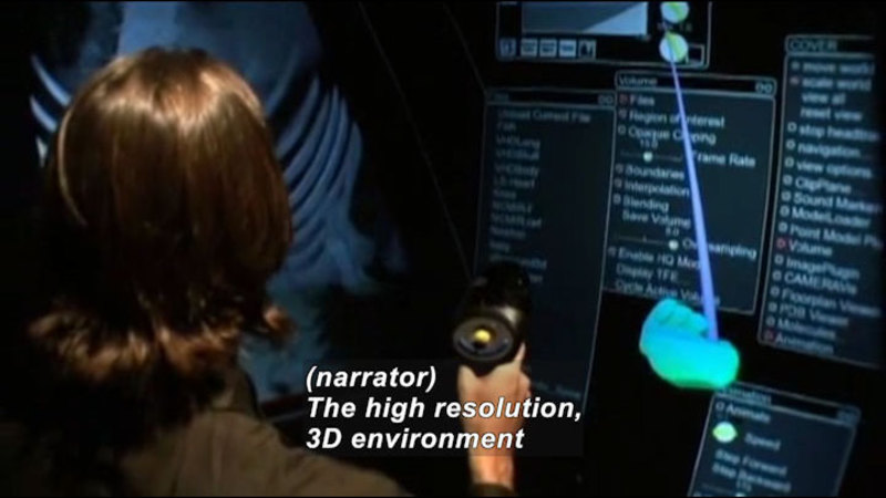 Still image from Profiles Of Scientists And Engineers: Virtual Reality Scientist