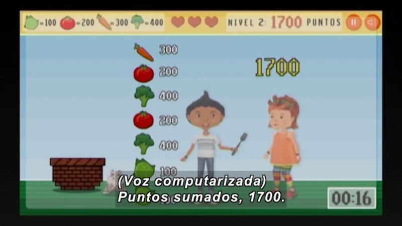 Still image from Through More Adventures: The Game Of The Vegetables (Spanish)
