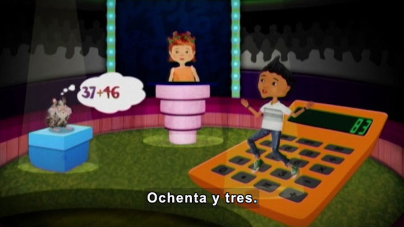 Still image from: Through More Adventures: Diego, the Calculator (Spanish)