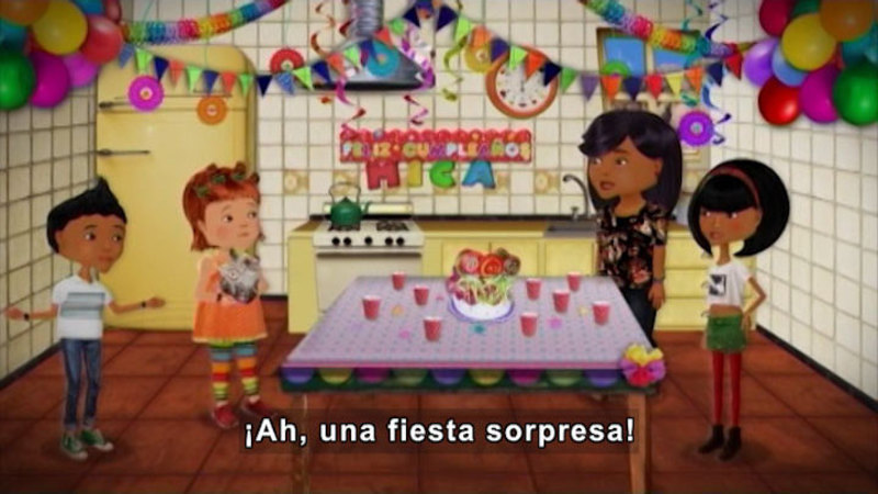 Still image from Through More Adventures: Surprise Birthday (Spanish)