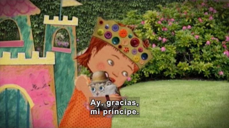 Still image from: Through More Adventures: The Princess and the Hamster (Spanish)