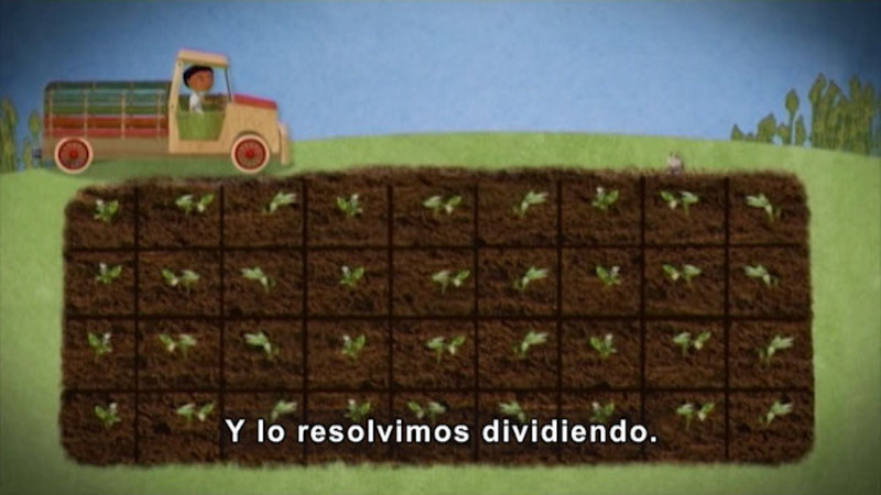 Still image from: Through More Adventures: Working on the Vegetable Garden (Spanish)