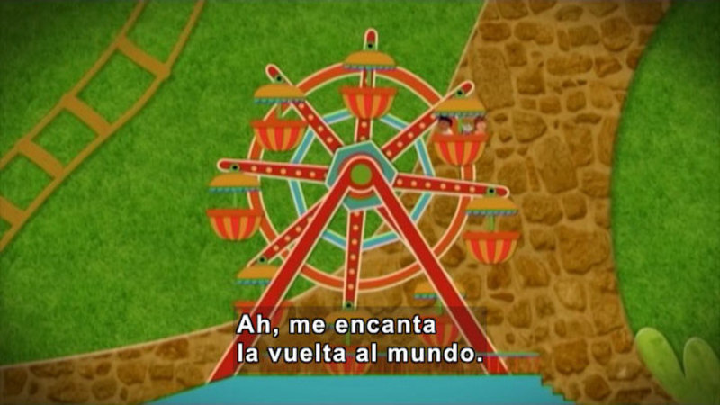 Still image from: Through More Adventures: A Stroll Through the Park (Spanish)