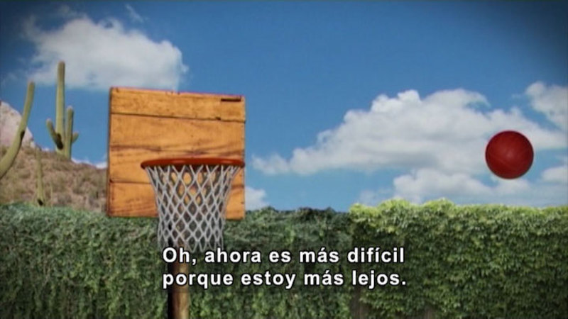 Still image from Through More Adventures: Basketball Stars (Spanish)