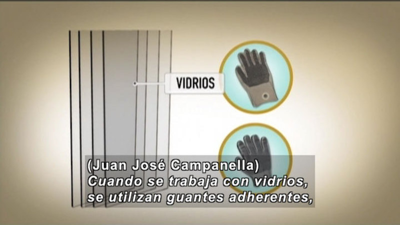Still image from Invisible Science And Technology Surrounding: Construction Site Safety (Spanish)