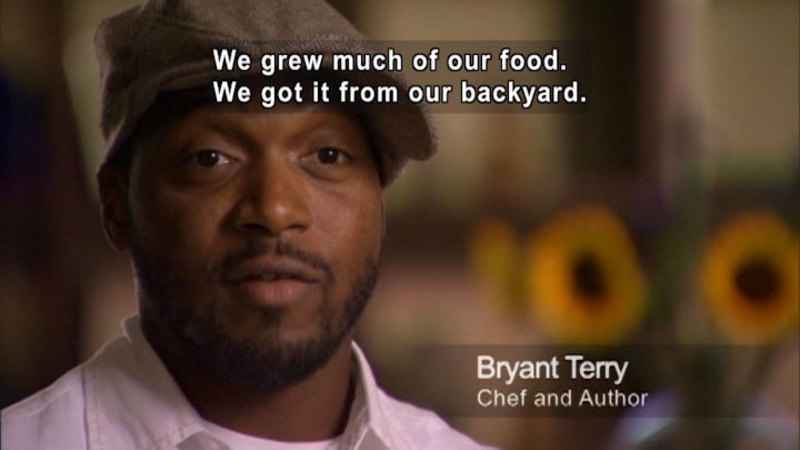 Still image from: Bryant Terry: My Food Journey