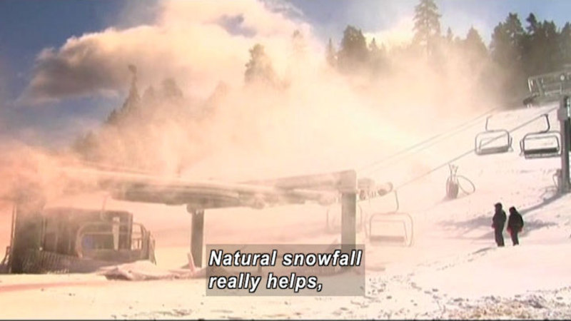 Still image from: Curiosity Quest: Making Snow