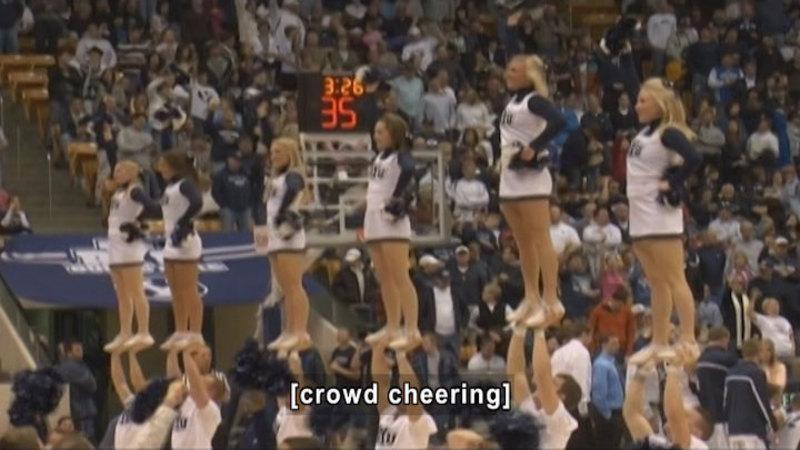 Still image from: Curiosity Quest: Cheerleading