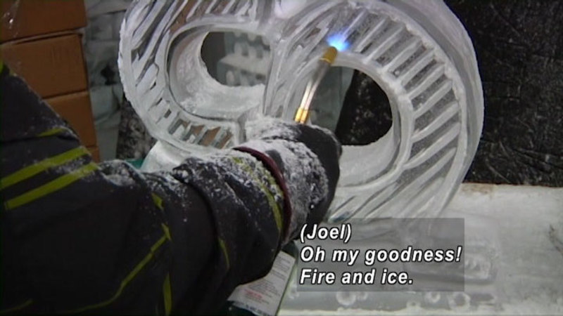 Still image from: Curiosity Quest: Ice Sculptures