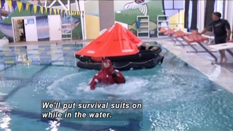 Still image from: Curiosity Quest: Boat Safety Training