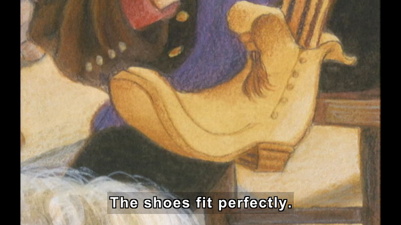 Still image from: The Elves And The Shoemaker