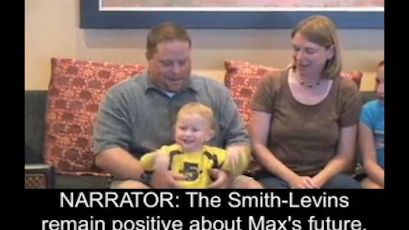 Still image from Smith-Levin Family: Max, Age 2, Bilateral Anophthalmia