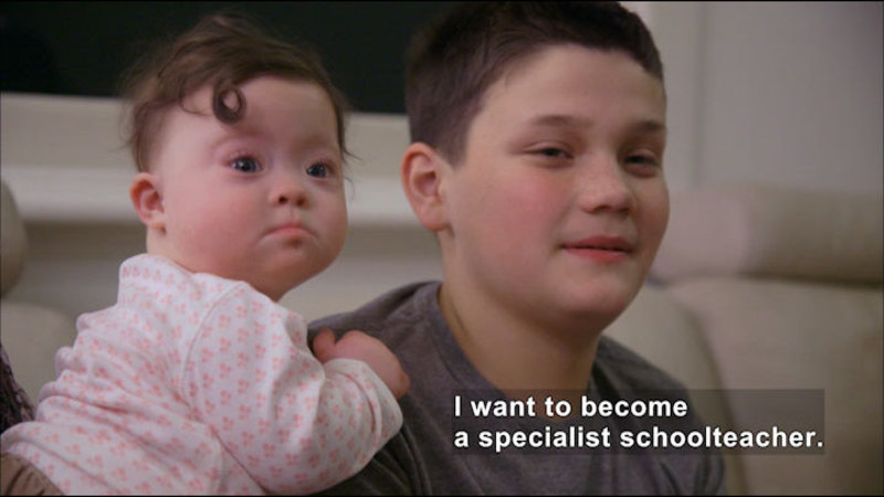 Still image from: Harry: My Story About Down Syndrome