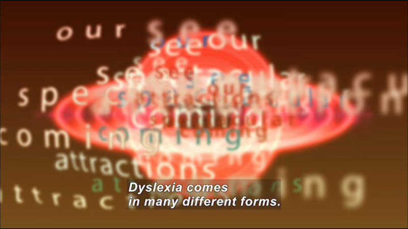 Still image from: Lucas: My Story About Dyslexia